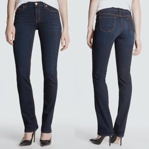 • J BRAND • cigarette leg dark wash denim jeans